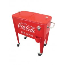 LeighCountry 60 Qt. Coca-Cola Ice Cold Heavy Duty Rolling Cooler UTG1069