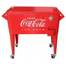 LeighCountry 80 Can Coca-Cola Embossed Ice Cold Cooler UTG1245