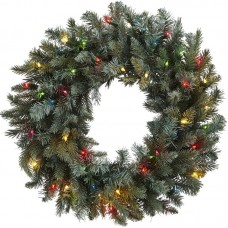 "Nearly Natural 30"" Lighted Pine Wreath TXN4182"