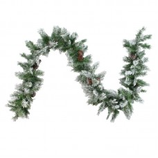 The Holiday Aisle Flocked Angel Artificial Christmas Garland THLY3041