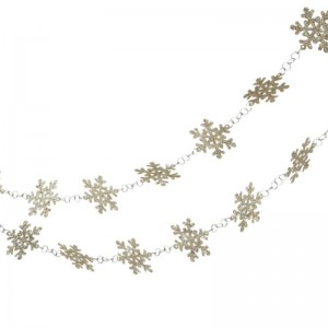 The Holiday Aisle Glittered Platinum Snowflake Novelty Christmas Garland THDA7008