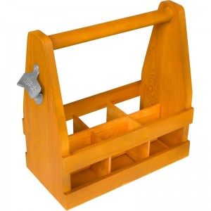 Trademark Innovations Wooden Caddy Carrier TQIN1641