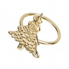 The Holiday Aisle Gold Tree Metal Napkin Ring DFIJ1103