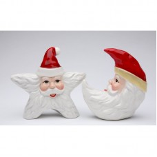CosmosGifts Santa Star and Moon 2-Piece Salt and Pepper Set SMOS1451