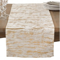 Everly Quinn Aldgate Distressed Foil Metallic Glitzy Cotton Table Runner EYQN4362