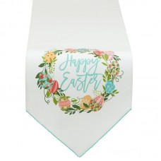 The Holiday Aisle Easter Wreath Embellished Table Runner THLY3511