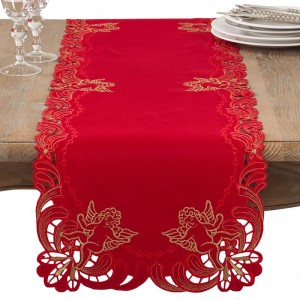 The Holiday Aisle Embroidered Angel Cherub Holiday Table Runner THDA1608