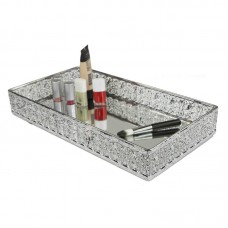 Home Basics Mesh Vanity Tray with Mirror HOBA2470