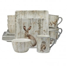 August Grove Freeborn A Woodland Walk 16 Piece Dinnerware Set, Service for 4 AGRV2818