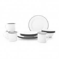 Crow Canyon Home Starter 16 Piece Dinnerware Set, Service for 4 CRHO1001