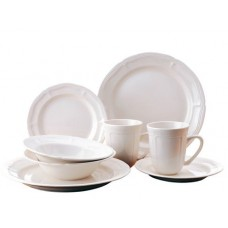 Thomson Pottery Bianca 16 Piece Dinnerware Set, Service for 4 FOMS1000
