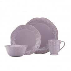 Lenox French Perle Violet 4 Piece Place Setting, Service for 1 LNX6959