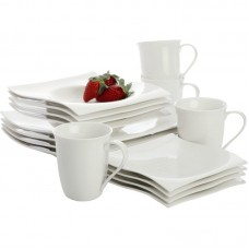 Maxwell Williams White Basics Motion 16 Piece Dinnerware Set, Service for 4 MVW1285