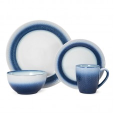 Pfaltzgraff Eclipse Blue 16-Piece Dinnerware Set, Service for 4 PFZ2649