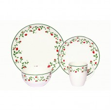 August Grove Alonzo Winterberry Porcelain Coupe 16 Piece Dinnerware Set, Service for 4 AGTG7817