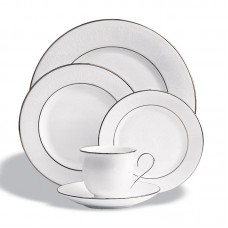 Lenox Hannah Platinum Bone China 5 Piece Place Setting, Service for 1 LNX1670