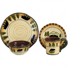 Loon Peak Grotto Bear 16 Piece Dinnerware Set LOPK3922