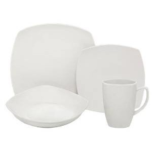 Melange Square 16 Piece Dinnerware Set, Service for 4 MLNG1004