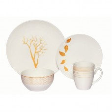 Red Barrel Studio Chance Nature 16 Piece Porcelain Coupe Dinnerware Set RDBA4359