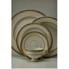 Shinepukur Ceramics USA, Inc. Marigold 5 Piece Ivory China Place Setting, Service for 1 SHPK1072