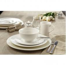 Winston Porter Lowenstein Embossed 16 Piece Porcelain China Dinnerware Set, Service for 4 SDFY1862