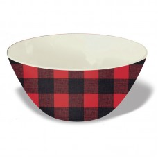 Loon Peak Outten 26 oz. Melamine Vintage Lodge Buffalo Check Rice Bowl LNPE5763