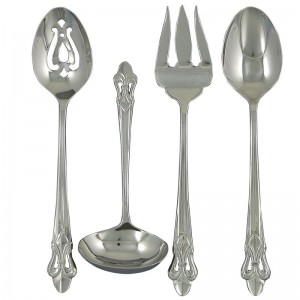 Ginkgo Fleur de Lis 4 Piece Hostess / Serving Set KGO1093