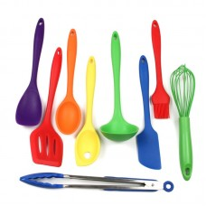 Chef Craft 9 Piece Silicone Kitchen Utensil Set CHCT1056