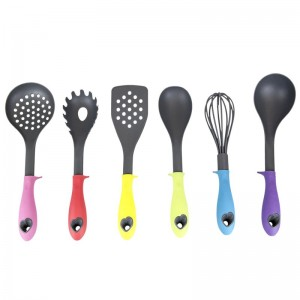 Home Basics 6 Piece Silicone Coated Kitchen Tool Utensil Set GCQS1070