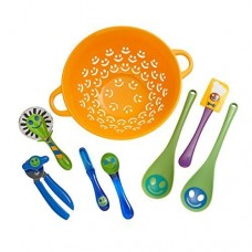 Kizmos 8-Piece Get Happy Utensil Set KIZM1001