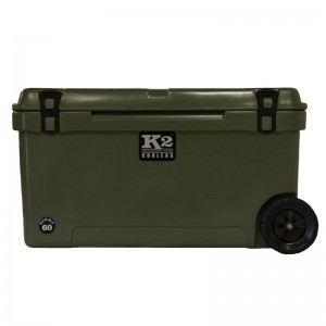 K2 Coolers 60 Qt. Summit Steel Cooler with Wheels KOOS1022