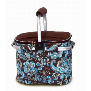 Picnic Plus by Spectrum Shelby Collapsible Thermal Foil Insulated Market Tote Picnic Cooler PICI1137
