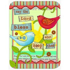 Caroline's Treasures May the Lord Bless You and Keep You Inspirational Glass Cutting Board HTJ19470