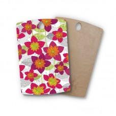 East Urban Home Jacqueline Milton Birchwood Star Flower Floral Cutting Board ESRP5295