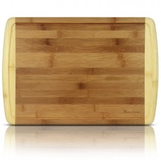 Heim Concept Organic Bamboo Cutting Board and Serving Tray with Drip Groove HEIM1001