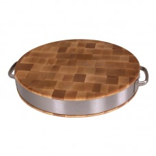 John Boos BoosBlock Maple Cutting Board with Stainless Steel Band JB1238
