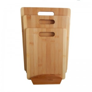 Timber Valley 3 Piece Bamboo Cutting Board Set with Stand TBVY1000
