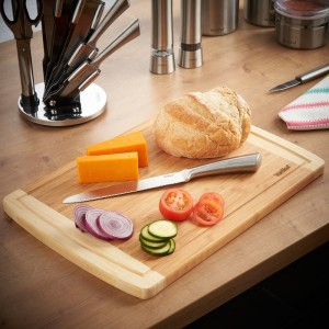 VonShef Large Bamboo Cutting Board VNSH1195