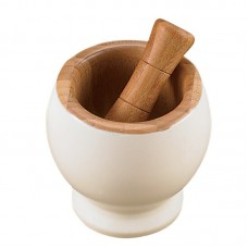 Creative Home Bamboo Mortar and Pestle CRH1419
