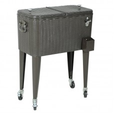 Sunjoy 60 Qt. Wicker Cooler LKJP2238